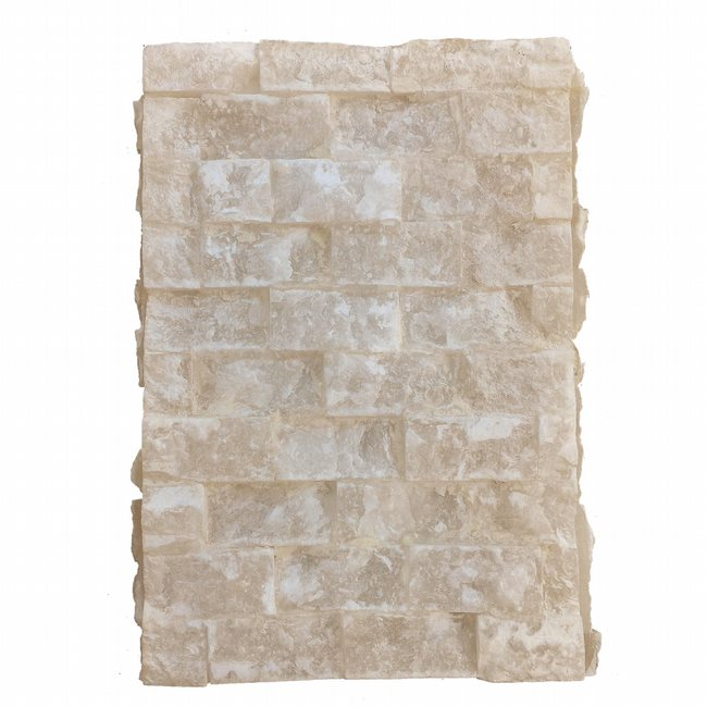 W23812F8 Pompeii 1 Light Flemish Brass Finish Natural Quartz Stone Wall Sconce Light - Discontinued