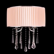 W23955C14-CL Gatsby 2 Light Dark Bronze Finish Clear Crystal Wall Sconce - Discontinued