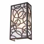 W23957F8 Cumulus 2 Light Flemish Brass Finish Wall Sconce with Opal Acrylic Diffusers - Discontinued