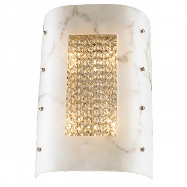 W23959C12-CL Dulles 4 Lights Chrome Finish with Clear Crystal Wall Sconce - Discontinued