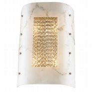 Dulles 4 Lights Chrome Finish with Clear Crystal Wall Sconce