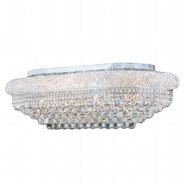 W33007C36 Empire 18 Light Chrome Finish and Clear Crystal Flush Mount Ceiling Light