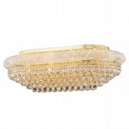 W33007G36 Empire 18 Light Gold Finish and Clear Crystal Flush Mount Ceiling Light