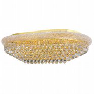 W33007G40 Empire 24 Light Gold Finish and Clear Crystal Flush Mount Ceiling Light