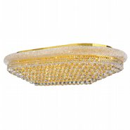 W33007G48 Empire 28 Light Gold Finish and Clear Crystal Flush Mount Ceiling Light