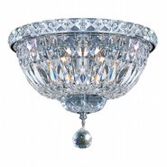 Empire 4 light Chrome Finish with Clear Crystal Ceiling Light