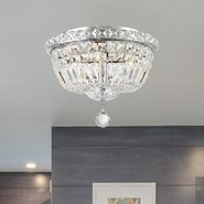 W33008C12 Empire 4 light Chrome Finish with Clear Crystal Ceiling Light