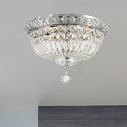 W33009C14 Empire 4 light Chrome Finish with Clear Crystal Ceiling Light
