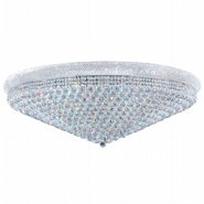 W33011C48 Empire 33 Light Chrome Finish and Clear Crystal Flush Mount Ceiling Light