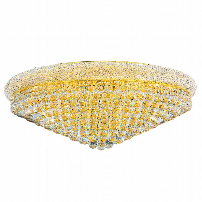W33011G36 Empire 20 light Gold Finish with Clear Crystal Ceiling Light