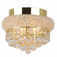 W33011G8 Empire 3 light Gold Finish with Clear Crystal Ceiling Light