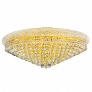 W33012G36 Empire 20 Light Gold Finish with Clear Crystal Ceiling Light - Discontinued