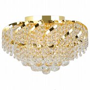 Empire 6 light Gold Finish with Clear Crystal Ceiling Light