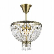 Metropolitan Collection 3 Light Antique Bronze Finish and Clear Crystal Semi Flush Mount Ceiling Light