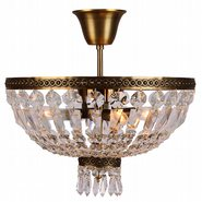 Metropolitan Collection 4 Light Antique Bronze Finish and Clear Crystal Semi Flush Mount Ceiling Light