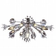W33111C20 Starburst 10 light Chrome Finish with Clear Crystal Ceiling Light