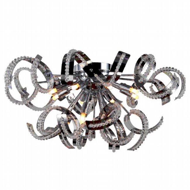 W33112C22 Medusa 12 light Chrome Finish with Clear Crystal Ceiling Light