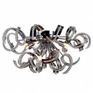 Medusa 12 light Chrome Finish with Clear Crystal Ceiling Light