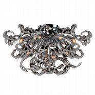Medusa 19 Light Chrome Finish Crystal Flush Mount Ceiling Light