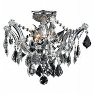 W33116C16-CL Maria Theresa 3 light Chrome Finish with Clear Crystal Ceiling Light