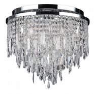 W33125C16 Tempest 5 light Chrome Finish with Clear Crystal Ceiling Light