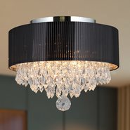 W33137C12 Gatsby 3 light Chrome Finish with Clear Crystal Ceiling Light