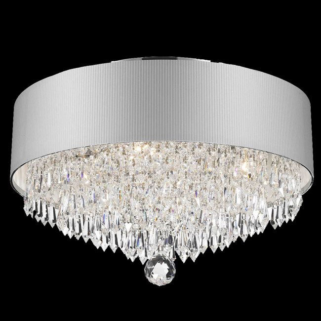 W33137C16-SV Gatsby Ceiling Light D16  H10  4 Light Chrome Finish Clear Crystal White Acrylic Shade  sc 1 st  Worldwide Lighting & W33137C16-SV Gatsby Ceiling Light D16