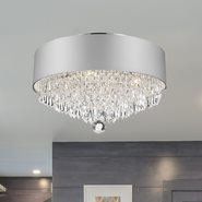 W33137C16-SV Gatsby Ceiling Light, D16