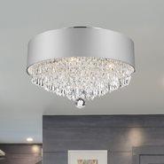 W33137C16-SV Gatsby Ceiling Light, D16