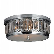 W33139C14 Parlour 4 Light Chrome Finish and Clear Crystal Flush Mount Ceiling Light