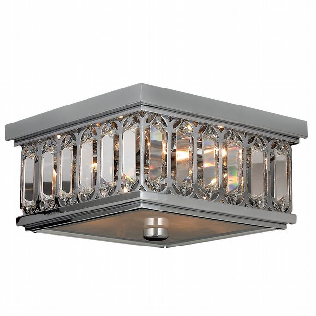 Athens collection 4 light chrome finish and clear crystal flush mount ceiling light Home decorators collection 4 light chrome flush mount