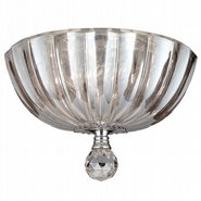 Mansfield 3 Light Chrome Finish Crystal Round Flush Mount