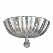 W33141C12-CL Mansfield 3 light Chrome Finish Crystal Round Flush Mount