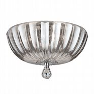 W33141C14-CL Mansfield 4 Light Chrome Finish Crystal Round Flush Mount