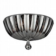 W33141C14-SM Mansfield 4 Light Chrome Finish and Smoke Crystal Flush Mount Ceiling Light