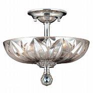 Mansfield 3 Light Chrome Finish Crystal Semi Flush Mount