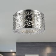 W33143C16 Aramis 7 Light Chrome Finish LED Crystal Flush Mount Ceiling Light