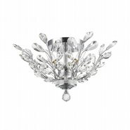 W33152C20 Aspen 4 Light Chrome Finish Crystal Semi Flush Mount Ceiling Light