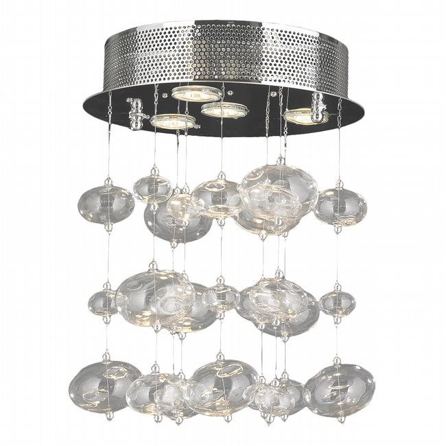 Effervescence 4 light chrome finish and clear blown glass bubble w33153c12 effervescence 4 light chrome finish and clear blown glass bubble flush mount ceiling light aloadofball