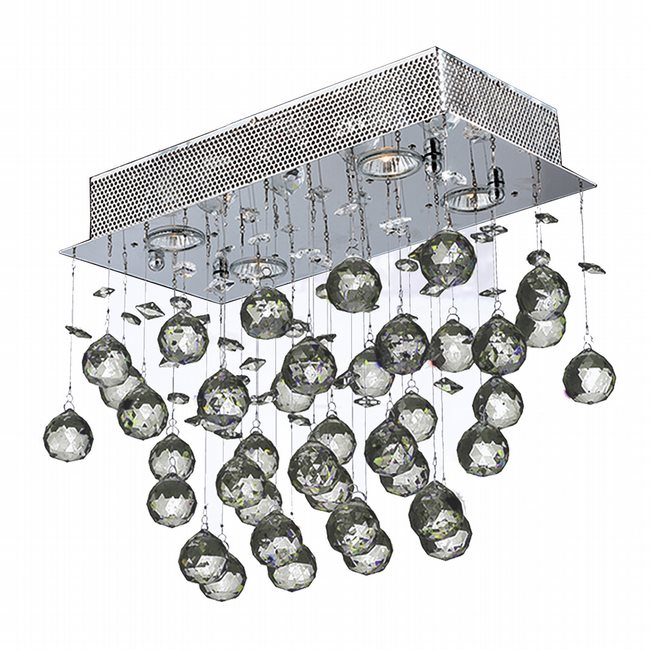 W33223C16 Icicle 4 Light Chrome Finish with Clear Crystal Ceiling Light - Discontinued