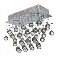 W33223C16 Icicle 4 Light Chrome Finish with Clear Crystal Ceiling Light