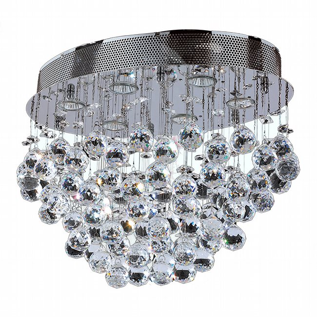 W33232C20 Icicle 6 light Chrome Finish with Clear Crystal Ceiling Light