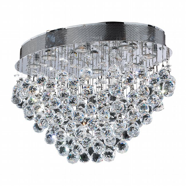 W33233C24 Icicle 8 Light Chrome Finish with Clear Crystal Ceiling Light - Discontinued