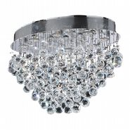 W33233C24 Icicle 8 Light Chrome Finish with Clear Crystal Ceiling Light