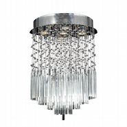 Torrent Collection 5 Light Chrome Finish and Clear Crystal Flush Mount Ceiling Light