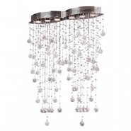 W33263C29 Icicle 6 Light Chrome Finish with Clear Crystal Flush Mount