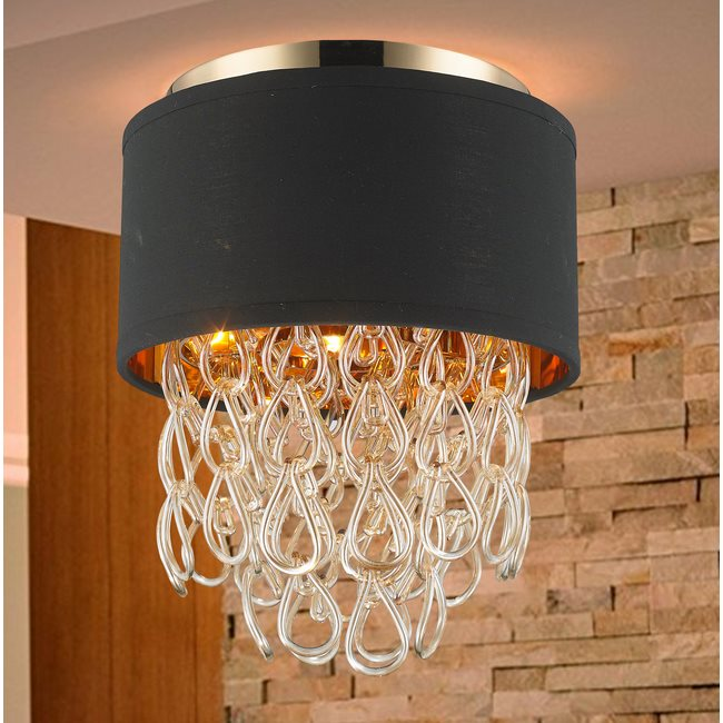 w33270cg12 Halo 3 Light Champagne Finish Ceiling Light - Discontinued