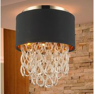 w33270cg12 Halo 3 Light Champagne Finish Ceiling Light