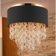 w33271cg16 Halo 4 Light Champagne Finish Ceiling Light
