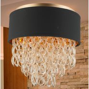 w33271mg16 Halo 4 Light Matte Gold Finish Ceiling Light